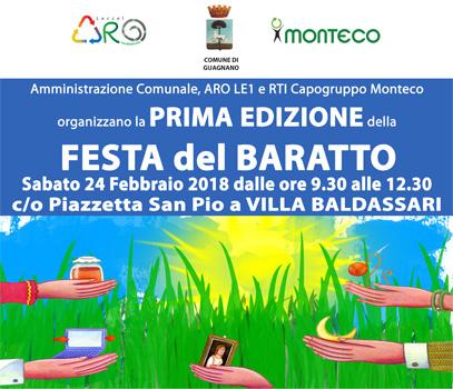 """""""Porta, Pesa e Vinci"""" e """"Festa del Baratto"""" a Guagnano e Villa Baldassarri"""